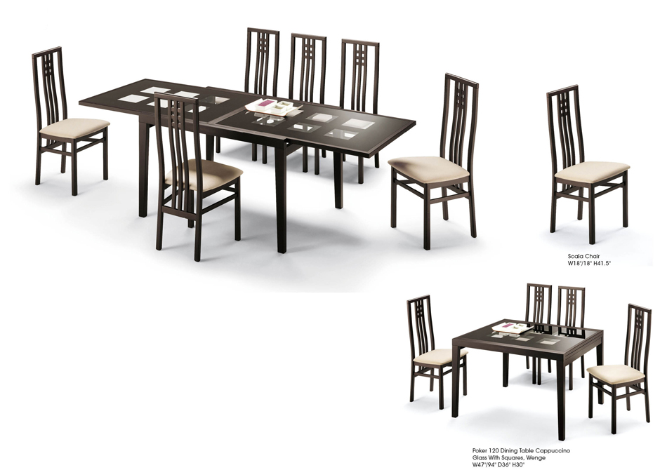 Poker Cappuccino Table and Scala Chairs Image