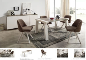 Reyna Dining Table w/Albi Chairs Image