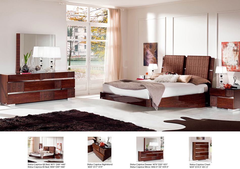 Status Caprice Bedroom - Walnut Image