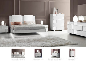 Status Caprice Bedroom - White Image