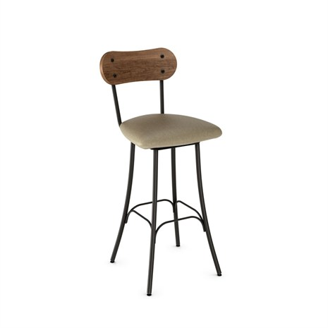 Bean Cushioned Seat Swivel Stool Image