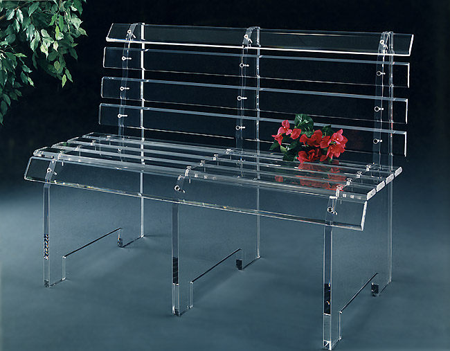 "Acrylic Bus Bench 48"" Wide Image"