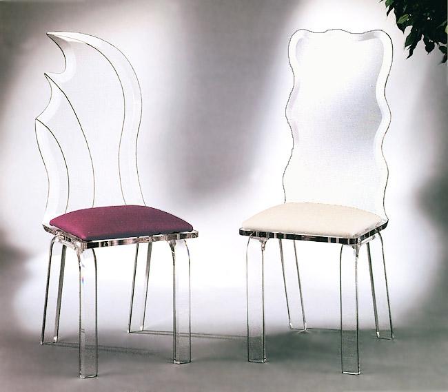 Luna Acrylic Chair & Crystal Acrylic Chair Image