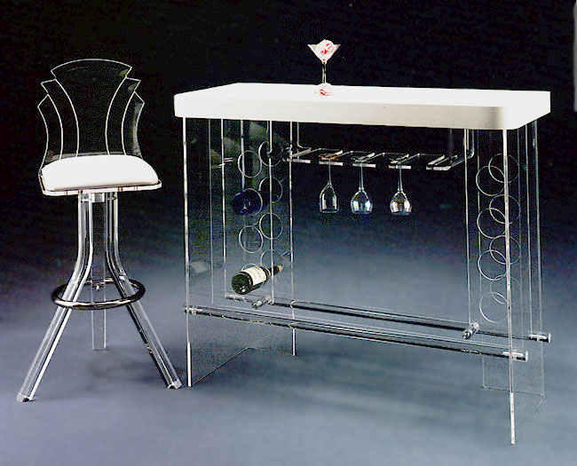 Acrylic Tiffany Bar stool & Bar with Light Image