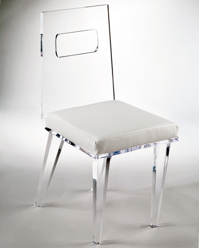 Ashley Acrylic Chair Size: Standard Image