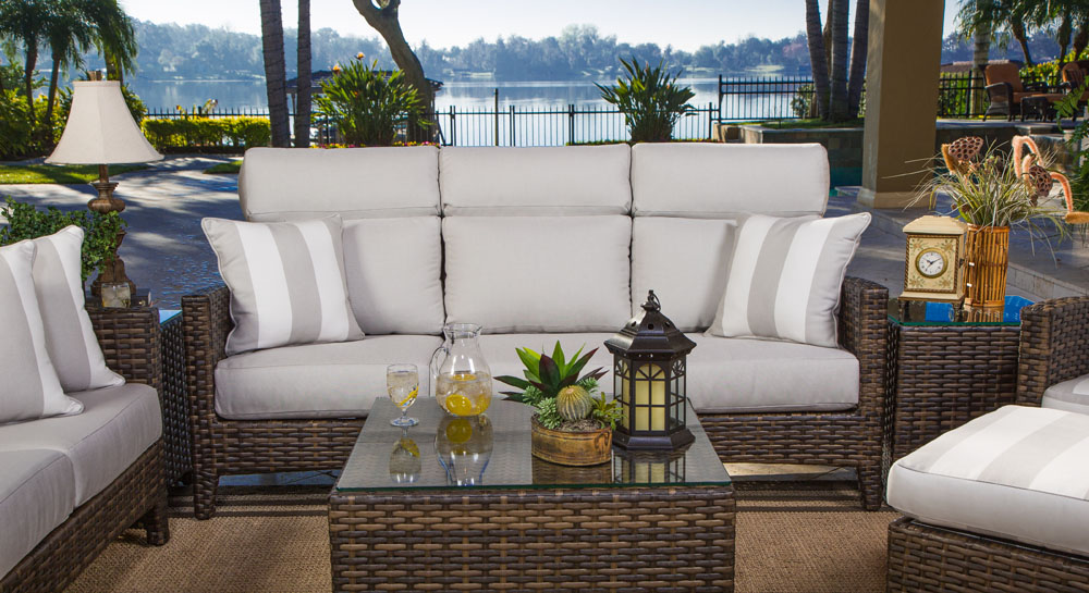 GRAND PALM COLLECTION – PATIO SET SILVER GREY Image