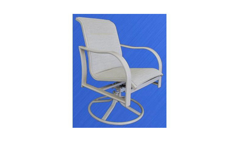 ALUMINUM COLLECTION – ST BARTS SWIVEL DINING CHAIR Image