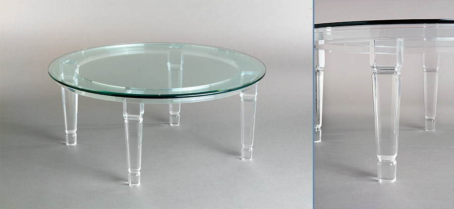Venetian Round Acrylic Cocktail Table Image