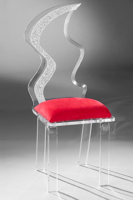 Zig Zag Acrylic Chair Image