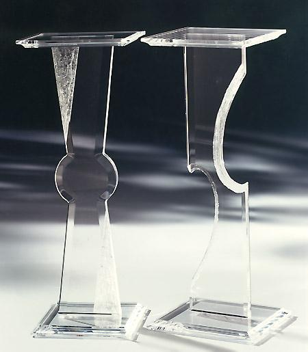 Cancun Acrylic Pedestal & Athens Acrylic Pedestal Image