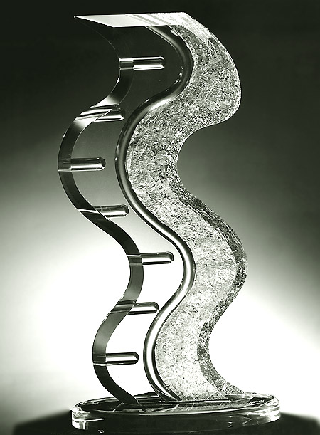 Dazzle Clear Acrylic Sculpture Image