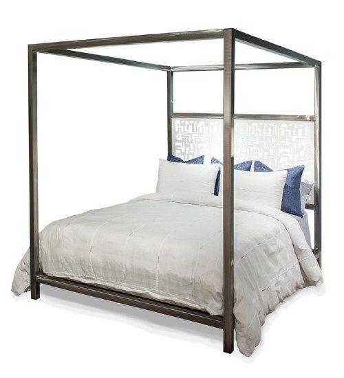 Luxor Laser Design Headboard Canopy Queen Bed Image