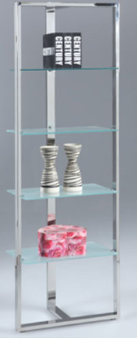 4 Glass shelf bookcase Image